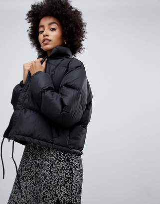 Dr. Denim cropped padded jacket with internal straps