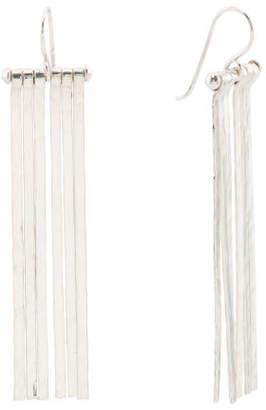 Handmade In Mexico Sterling Silver Fringe Earrings