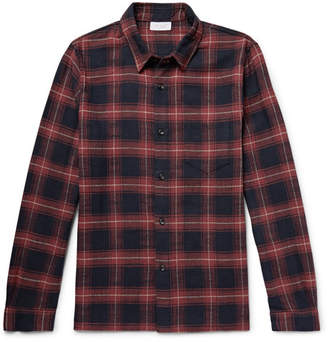 John Elliott Slim-Fit Checked Cotton Shirt - Men - Red