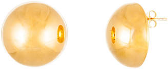 FINE JEWELRY Yellow IP Stainless Steel Semi-Circle Stud Earrings