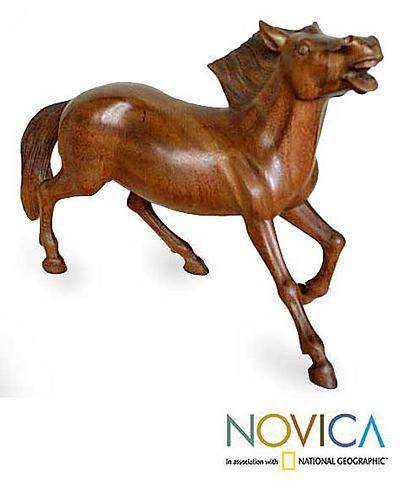Wild and Free Wood statuette