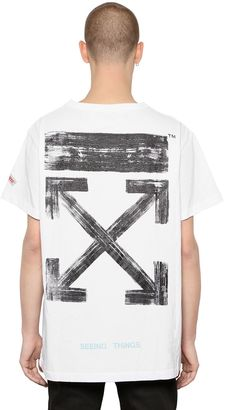 Brushed Arrows Cotton Jersey T-Shirt $269 thestylecure.com