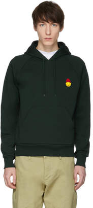 Ami Alexandre Mattiussi Green Limited Edition Smiley Edition Graphic Hoodie