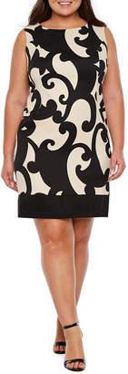 Alyx Sleeveless Scroll Sheath Dress - Plus