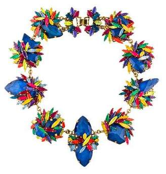 Erickson Beamon Crystal Splash Floral Statement Necklace