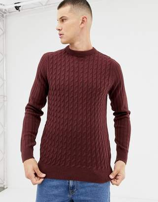 New Look sweater with sadle sleeve in burgundy