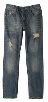 Seven Oaks Boys' Destructed Straight Leg 5 Pocket Denim Pants
