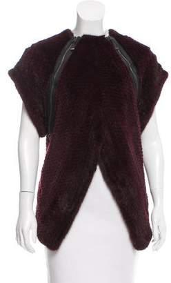 J. Mendel Mink Fur Knit Top w/ Tags