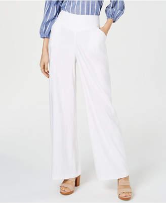 INC International Concepts I.n.c. Petite Linen Wide-Leg Pants