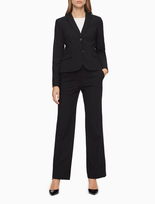 Calvin Klein straight black suit pants