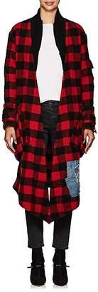 Greg Lauren Women's Checked Wool-Blend Kimono Jacket