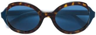 Prada tortoiseshell-effect round frame sunglasses