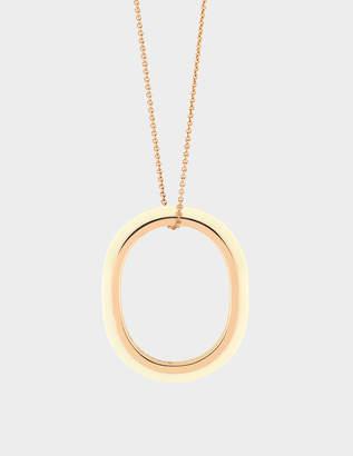 ginette_ny Ivory Ceramic & Gold TV 18-karat rose gold necklace