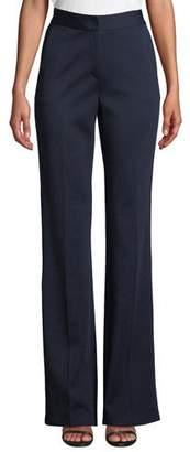 St. John Emma High-Waist Wide-Leg Milano Knit Pants