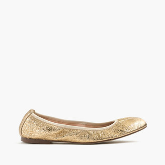 Lea ballet flats in metallic leather $128 thestylecure.com
