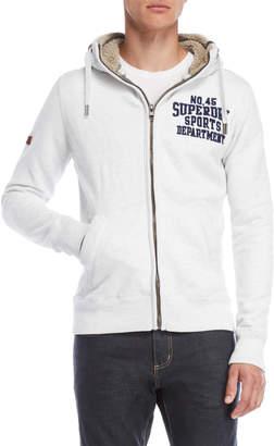 Superdry Logo Zip-Up Fleece Hoodie