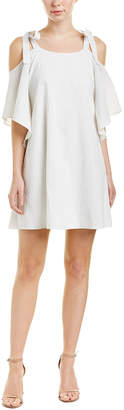 Halston Linen-Blend Shift Dress