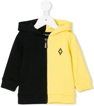 Marcelo Burlon County of Milan Kids logo embroidered colour block hoodie