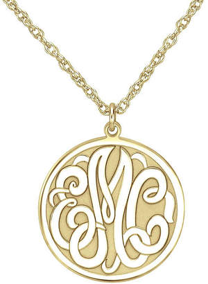 Fine Jewelry Personalized 25mm Initial and Name Circle Pendant Necklace cSmVE
