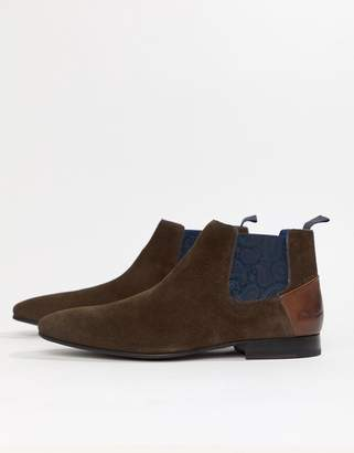 Ted Baker Lowpez chelsea boots in brown suede