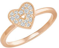 SwarovskiField Swarovski Crystal Heart Ring