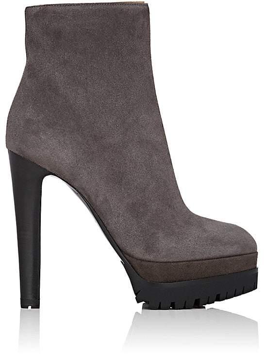 Sergio Rossi Women's Suede Platform Ankle Booties