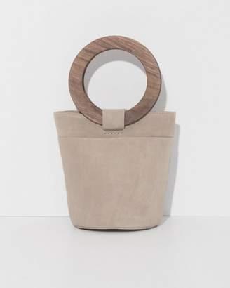 Modern Weaving Mini Wood Circle Handle Bucket