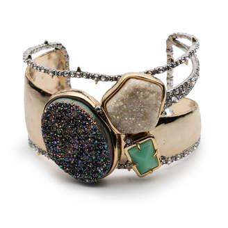 Alexis Bittar Druzy Stone Cluster Cuff Bracelet