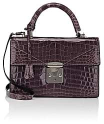 Stalvey Women's Top-Handle 2.5 Small Alligator Satchel - Lilac