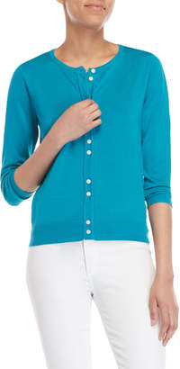 August Silk Double Button Cardigan