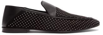 Balmain Cole Studded Suede Loafers - Mens - Black