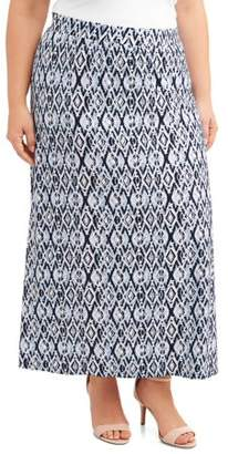 9bc5aee2fb834 Terra   Sky Women s Plus Size Super Soft Knit Maxi Skirt