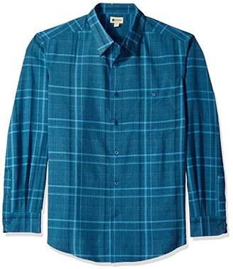 Haggar Men's Big and Tall Long Sleeve Microfiber Woven Shirt
