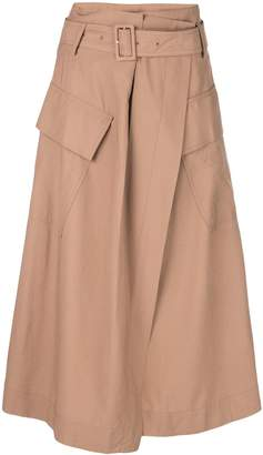 Vince high-waisted midi skirt
