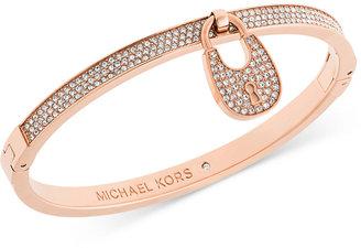 Michael Kors Pavé Crystal Lock Bangle Bracelet $125 thestylecure.com