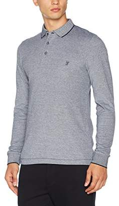 French Connection Men's Summer Oxford Pique Ls Mn Long Sleeve Top, (Marine Blue 40)