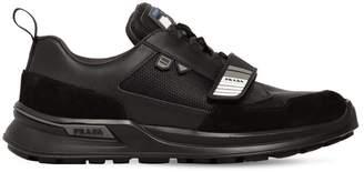 Prada Work Suede & Mesh Sneakers