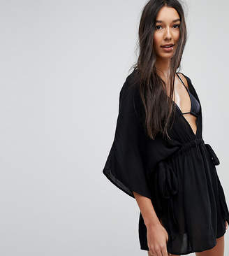 Asos Tall DESIGN Tall channel waist beach cover up