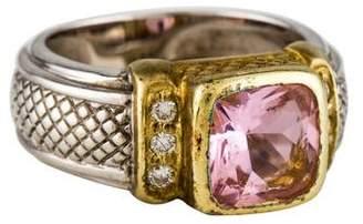 Judith Ripka Two-Tone Crystal & Diamond Cocktail Ring