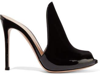 Gianvito Rossi Aramis 100 Patent-leather Mules - Black