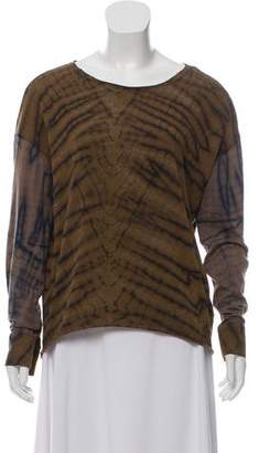 Raquel Allegra Long Sleeve Printed Knit Top