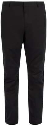 Lanvin Mid Rise Cotton Trousers - Mens - Black