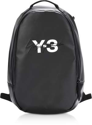 Y-3 Y 3 Black Coated Canvas Signature Backpack