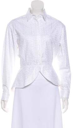Alaia Embroidered High-Low Button-Up w/ Tags