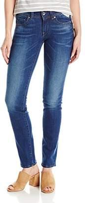 G Star Women's Midge Saddle Mid Straight Jeans in Yzzi Stretch Denim