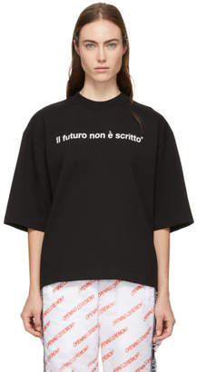 MSGM Black Future Is Not Written T-Shirt