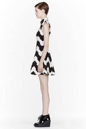 Opening Ceremony Black and white jagged print Kingston Dress