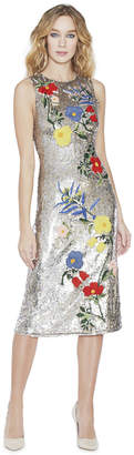 Alice + Olivia Nat Mid-Length Fitted Dress