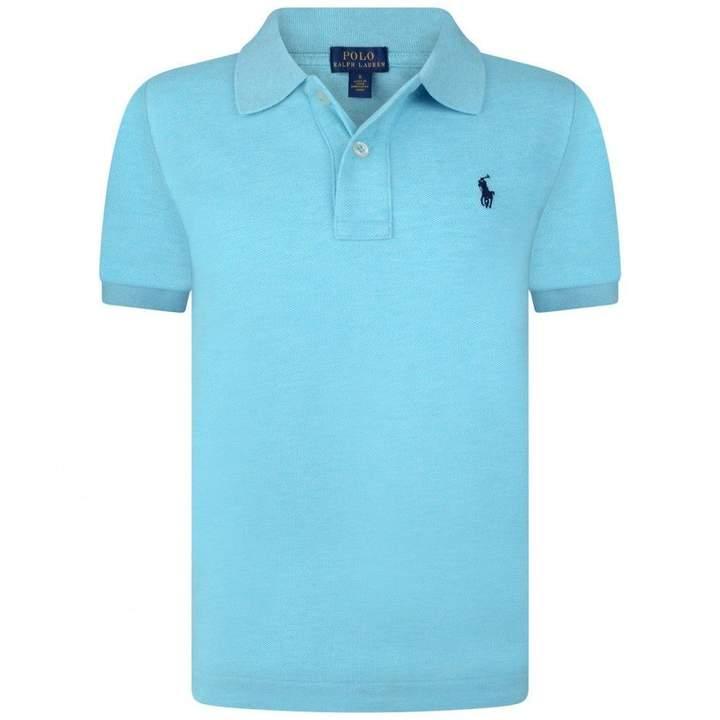 Ralph LaurenBoys Aqua Short Sleeve Polo Top