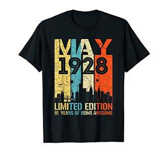 MAY 1928 Vintage Funny 91st Birthday Gift T Shirt